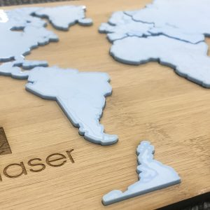 Alfex Laser Cut World Map